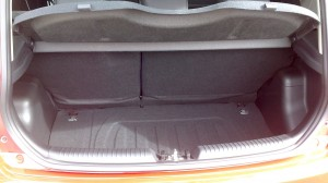 The luggage bay on the Kia Picanto City