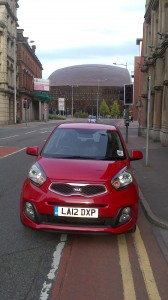 The Kia Picanto City at Wales Millenium Centre