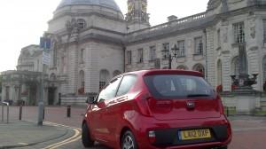 The Kia Picanto City at Cardiff City Hall