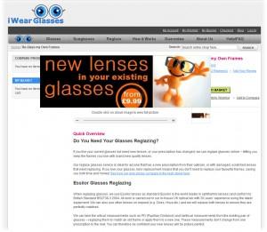 the iwearglasses reglaze page