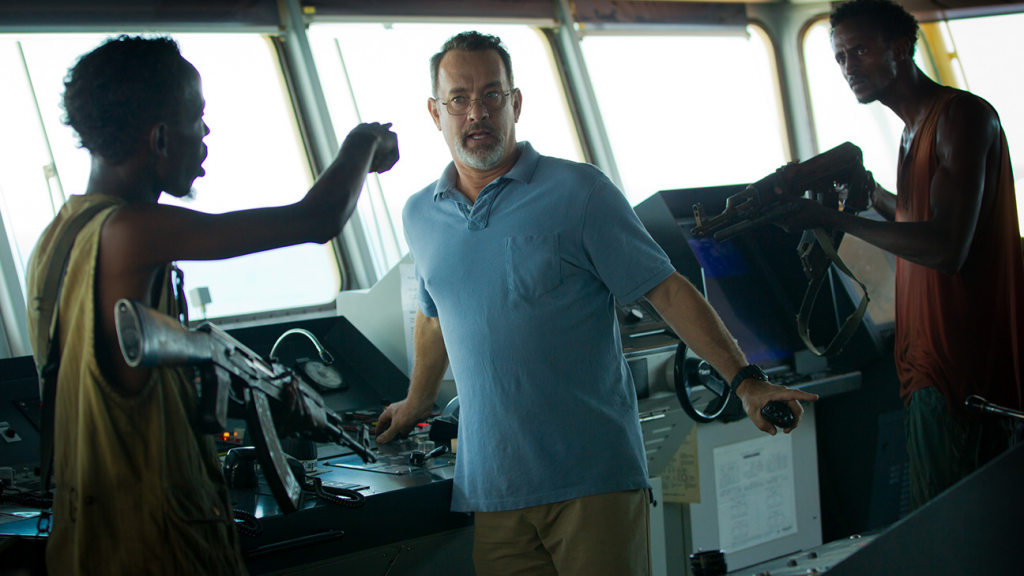 Captain Phillips on the Bridge of his ship